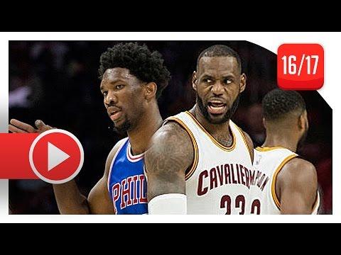 LeBron James vs Joel Embiid CRAZY