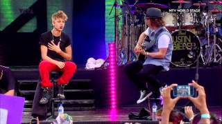 Justin Bieber-Die in your arms (acoustic live) MTV