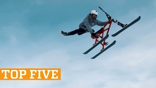 TOP FIVE: Snowbiking, Freerunning & Kettlebell Swings | PEOPLE ARE AWESOME 2017