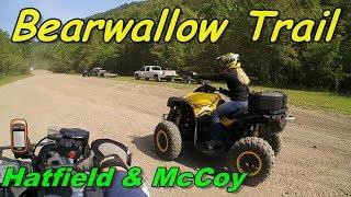 ATV Riding Bearwallow Trails! At Hatfield & McCoy Sept 18th 2017