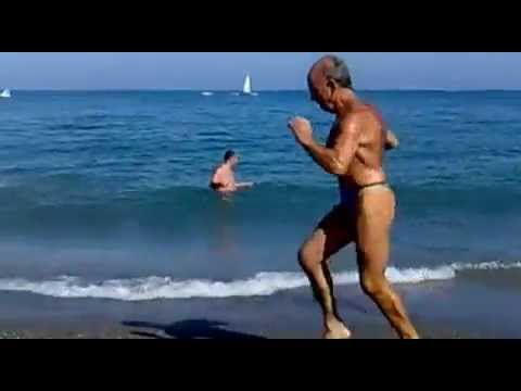 Xxx Mp4 Old Man Shows His Sex Appeal On The Beach LMAO 3gp Sex