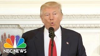 President Donald Trump Says His Budget