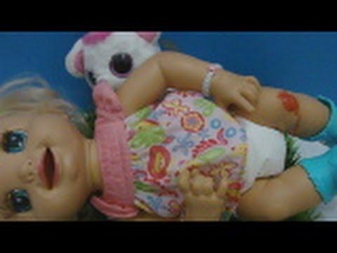 O primeiro machucado da minha Baby Alive Charlie Julia Silva