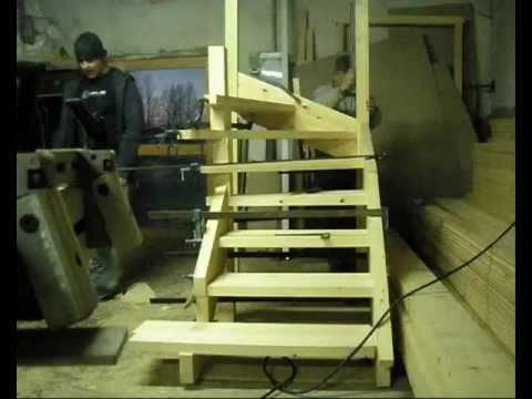 Como hacer escalera de madera 7 instalacion vidoemo - Como hacer escaleras de madera ...