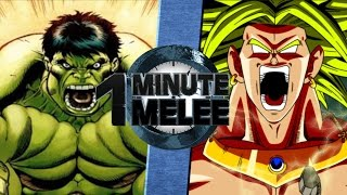 One Minute Melee S4 EP2 - Hulk Vs Broly (Marvel vs DBZ)
