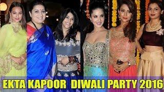 Ekta Kapoor's Diwali Party 2016 | Smriti Irani, Sriti Jha, Sunny Leone, Divyanka Among Top TV Stars