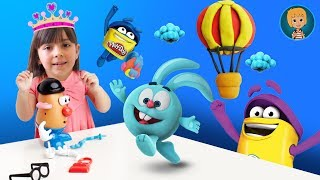Play Doh Elsa Frozen And Jack Frost Stop Motion (Gertit ToysReview)