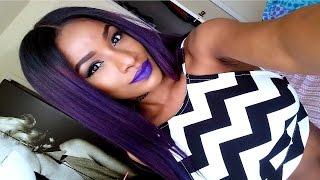 Justine Skye Purple Hair Color Tutorial