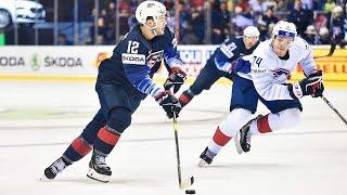 Alex DeBrincat, Colin White power Team USA to 7-1 win against Team France - IIHF World Championship