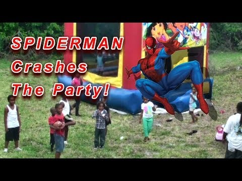 SPIDERMAN Crashes The Party!