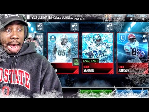 ULTIMATE FREEZE PACK OPENING & LEGEND CHAD JOHNSON Madden Mobile 17 Gameplay Ep. 12