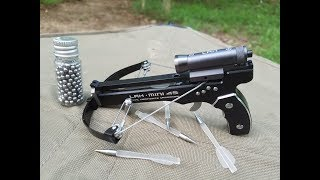 Shooting the Mini Tactical Crossbow for the First Time - LAH Mini 4S with Laser Sight