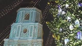 Christmas Tree, Sophia Cathedral, Kiev, Ukraine 2017 to 2018