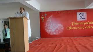 Motivational Speech by former Education minister Dr B D Kalla