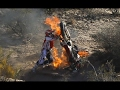 DIRTBIKES  BLOWS UP &  FIRE 2017