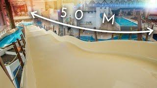 Longest Family Slide EVER (50 m!) at Aquapark Reda, Poland