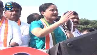 KCR has failed Telanagana : Vijayashanthi at Karimnagar Poll campaign | Overseas News
