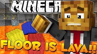 Minecraft THE FLOOR IS LAVA (Wool Wars)