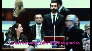 Espectacular zasca en vivo de los abogados catalanes a Roger Torrent
