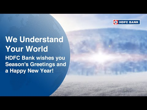 HDFC Bank wishes you Season's Greetings and a Happy New Year!