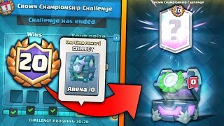 OPENING ALL NEW 20 WIN CHALLENGE REWARDS! | Clash Royale | 20 WIN CROWN CHAMP CHEST OPENING