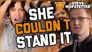 Mother heckler freaks out during comedy special - Steve Hofstetter