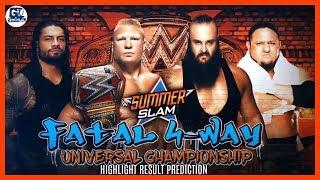 Summer Slam 20/08/2017 Highlight Result Predictions
