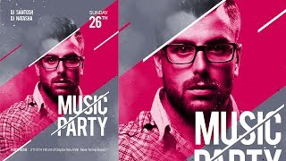 Music Poster | Poster Design in Photoshop | click3d