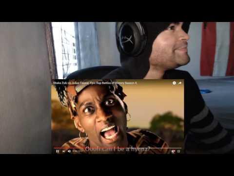 Shaka Zulu vs Julius Caesar. Epic Rap Battles of History Season 4. REACTION!!!