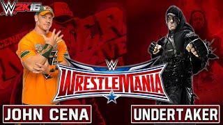 WWE Wrestlemania 32 - Undertaker Vs John Cena - WWE 2K16