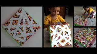 DIY - Cardboard wall decor | Easy summer crafts for kids | Best out of waste