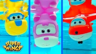 Super Wings 출동슈퍼윙스 신제품 장난감 mini Planes Squirt Bath Water Underwater Toys by Disney Collector
