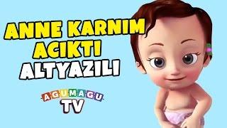Anne Karnım Acıktı Yeni Versiyon  ( Altyazılı ) - Çocuk Şarkıları 2016