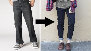 Transformation: Loose to Fitted Jeans