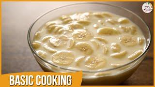 Kelyache Shikran | Banana & Milk | Quick Dessert | Recipe by Archana in Marathi | Basic Cooking