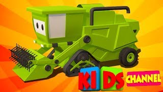 Harvester | 3D car cartoons | video for kids