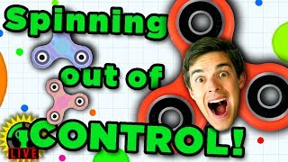 FIDGET SPINNER vs. FIDGET SPINNER in Newest Agario Game!