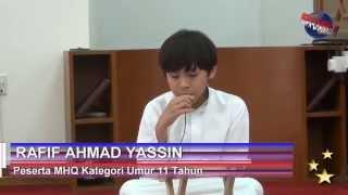 Rafif Ahmad Yassin - Musabaqah Hifzil Qur'an 2015 - Al Khor - Qatar