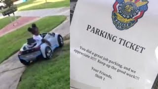 3-Year-Old Louisiana Girl Ticketed With Goodies for Perfectly Parking Toy Car