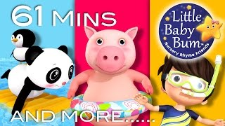 Swimming Song | Part 2 | Plus Lots More Nursery Rhymes | By LittleBabyBum!