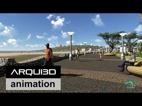 Futuro Malecón de Playas de Villamil Ecuador Diseño Arq. Luis Moreira