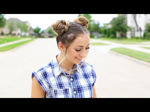 Xxx Mp4 How To Create Double Braided Buns Back To School Cute Girls Hairstyles 3gp Sex