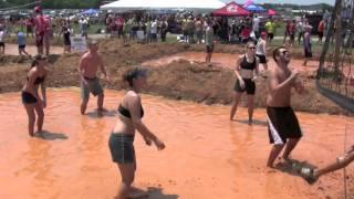 mud volleyball with nipple slip