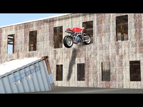 Beamng Drive Impossible Motorbike Stunts