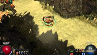 PathOfExile COLB Cast On Last Breat proof of concept -  gorge map