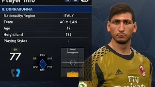 PES 2017 - Ac Milan Face & Player Rating [Full HD]
