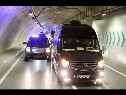 Avrasya Tüneli'nden ilk geçişi Cumhurbaşkanı Erdoğan yaptı