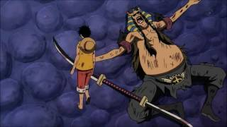 mugi wara Luffy Vs  Assistant Warden Hannyabal!   One Piece 446 Eng Sub HD