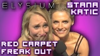 Maude Garrett geeks out talking about meeting Nathan Fillion to Stana Katic (Castle)