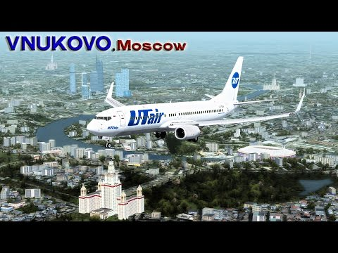 ✈ UTair 737-800 Approach to Moscow, Vnukovo ✈